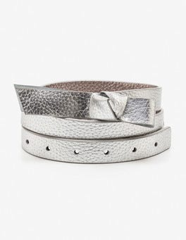 Silver Metallic Sena Waist Belt