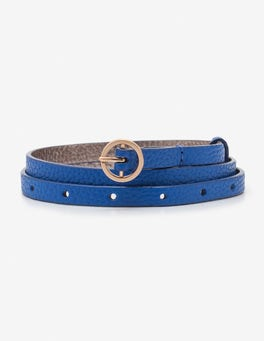 Ultra Blue Super Skinny Belt