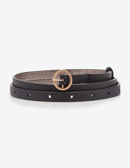Navy Super Skinny Belt