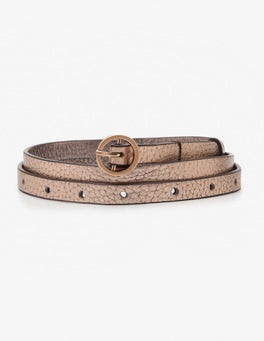 Rose Gold Super Skinny Belt