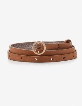 Tan Super Skinny Belt