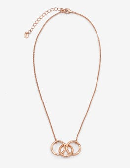 Antique Rose Gold Metallic Marcella Necklace