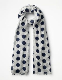 Ivory Spot Printed Scarf