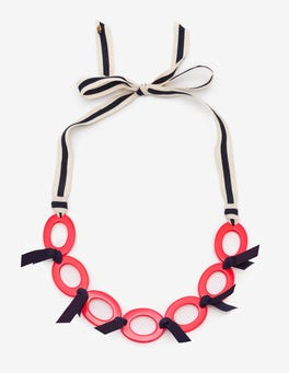 Watermelon Punch Oriana Link Necklace