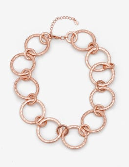 Antique Rose Gold Metallic Delphine Necklace
