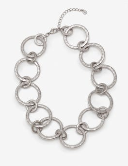 Antique Silver Metallic Delphine Necklace