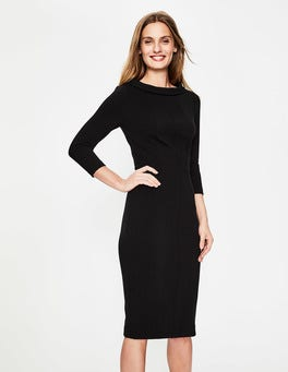 Black Marisa Ottoman Dress