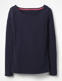 Navy Essential Boatneck