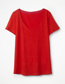 Red Pop The Cotton Voop Tee