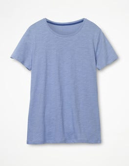 Hazy Blue The Cotton Crew Neck Tee