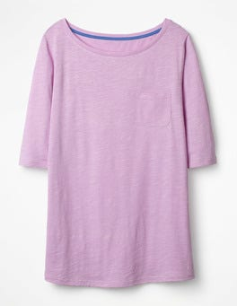 The Cotton Boat Neck Tee