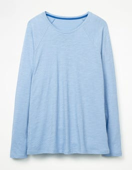 Hazy Blue The Cotton Baseball Tee