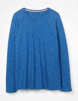 Klein Blue/Ivory The Cotton Baseball Tee
