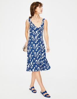 Klein Blue Leaves Willa Jersey Dress