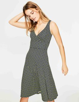 Navy Apple Geo Willa Jersey Dress