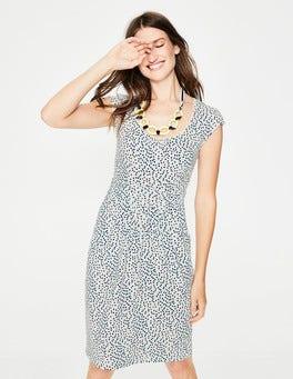 Ivory Multi Spot Margot Jersey Dress