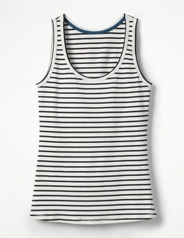 Ivory/Navy Essential Vest