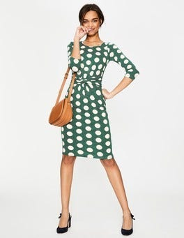 Sap Green Spot on Spot Michelle Jersey Dress