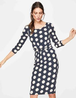Navy Spot on Spot Michelle Jersey Dress