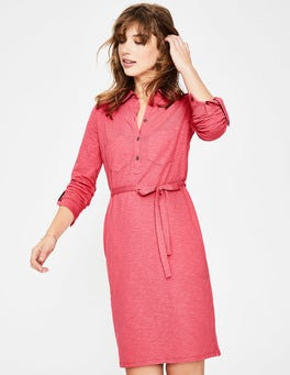 Coral Sunset Jena Jersey Shirt Dress