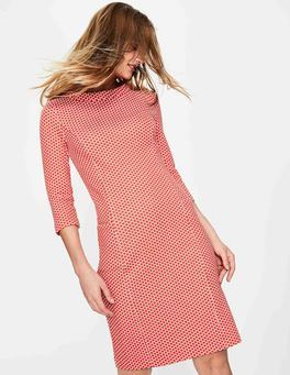 Red Pop/Ivory Spot Jacquard Sarah Jacquard Dress