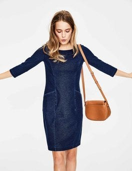 Dark Denim Trinity Jersey Dress