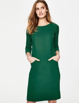 Sap Green Trinity Jersey Dress