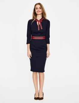 Navy Annette Ponte Dress