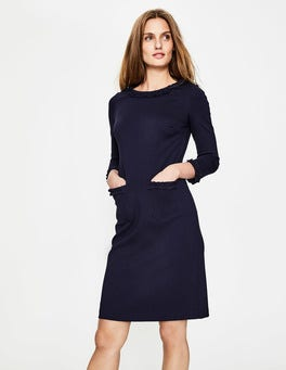 Navy Miranda Ponte Dress