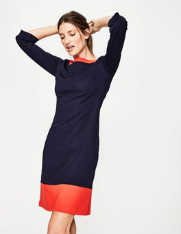 Navy/Red Pop Siobhan Ponte Dress