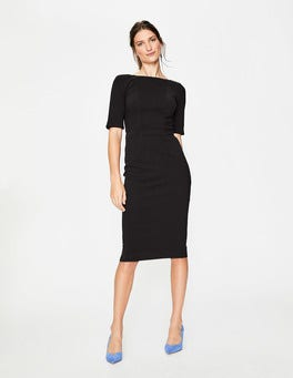 Black Kaia Ottoman Dress