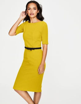 Mimosa Yellow Kaia Ottoman Dress