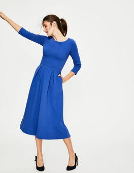 Klein Blue Harley Textured Dress
