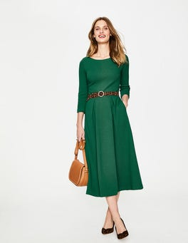 Sap Green Harley Textured Dress