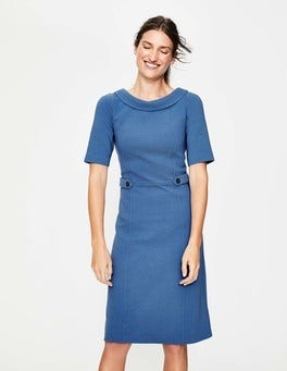 Soft Blue/Navy Betty Ottoman Dress