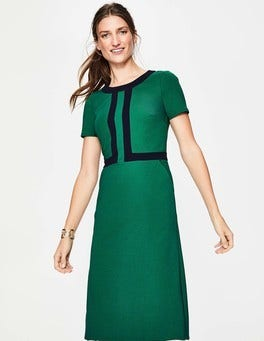Sap Green/Navy Joan Ponte Dress