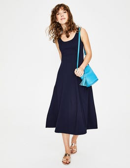 Navy Callie Ponte Dress