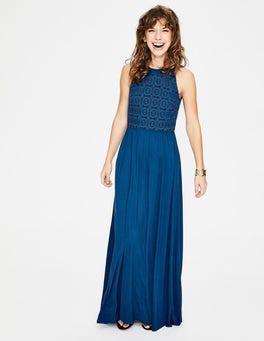 Edles Blau Jacqueline Maxikleid
