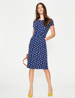 Mariner Blue Gallop Phoebe Jersey Dress