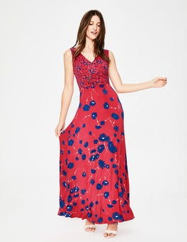Sunset Floral Meadow Georgia Maxi Dress