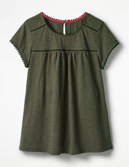 Khaki Anastasia Jersey Top