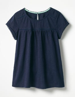Navy Anastasia Jersey Top