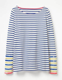 Sequin Stripes Make A Statement Breton