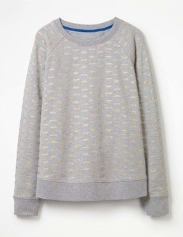 Grey Marl Dragonfly Make A Statement Sweatshirt