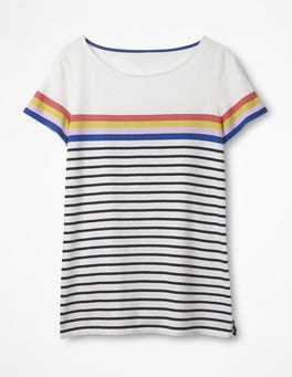 Ivory Multi Short Sleeve Breton