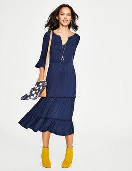 Navy Jordana Jersey Dress