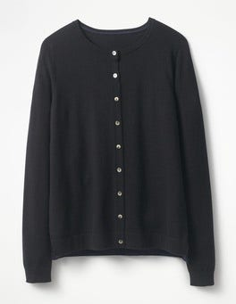 Black Favourite Crew Cardigan
