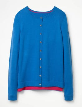 China Blue Favourite Crew Cardigan