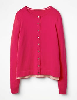 Carnival Pink Favourite Crew Cardigan