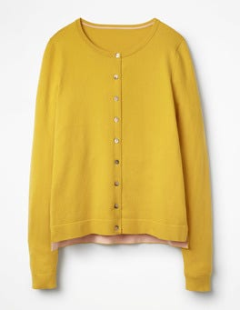 Mimosa Yellow Favourite Crew Cardigan